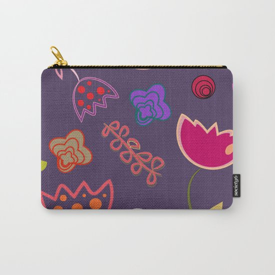 Motif de fleurs 5 Carry-All Pouch