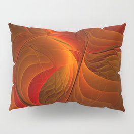 Warmth, Abstract Fractal Art Pillow Sham