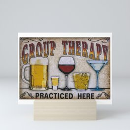 Group therapy practiced here Mini Art Print