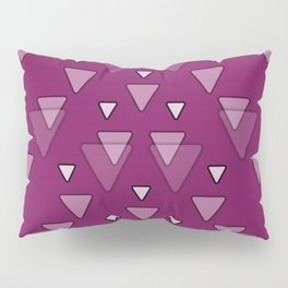 Geometric Triangles in Fuchsia Pink Pillow Sham