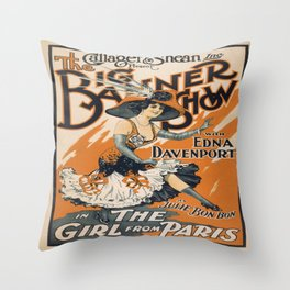Vintage poster - The Girl from Paris Throw Pillow