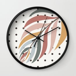 Colorful Palm Branch Wall Clock