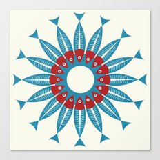 Red Fish, Blue Fish in a Ring Canvas Print