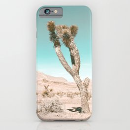 Vintage Desert Scape // Cactus Nature Summer Sun Landscape Photography iPhone Case