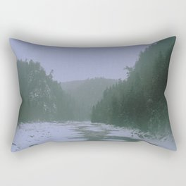 Gloomy river Rectangular Pillow