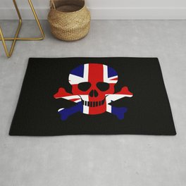 Union Jack Skull and Crossbones Rug