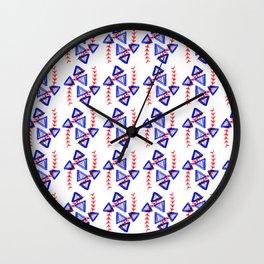 Purple & Red Wall Clock