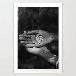 Flower (Black & White) Art Print