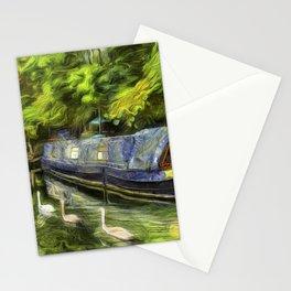 Narrow Boats Little Venice art Stationery Cards