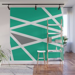 Intersections of Green Wall Mural