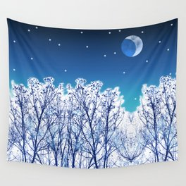 White Woods Snow Wall Tapestry