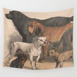 Vintage Dog Breeds Illustration (1874) Wall Tapestry