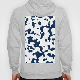 Large Spots - White and Oxford Blue Hoody