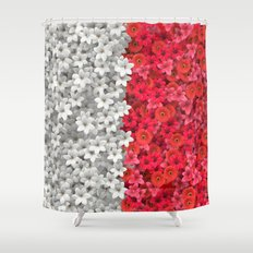Boundary Flowers Shower Curtain
