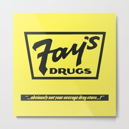 Fay's Drugs | the Immortal Yellow Bag Metal Print