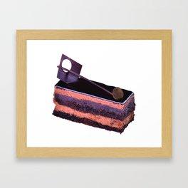 Traditional Japanese chocolate cake Framed Art Print