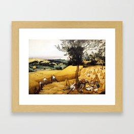 The Harvesters Painting by Pieter Bruegel the Elder Framed Art Print