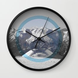 Placid as a mountain to the sea Wall Clock