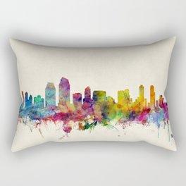 San Diego California Skyline Rectangular Pillow
