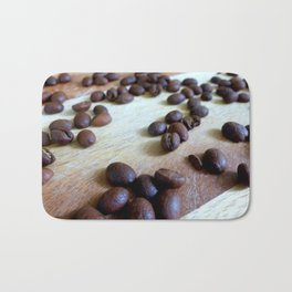 Scattered Coffee Beans Bath Mat