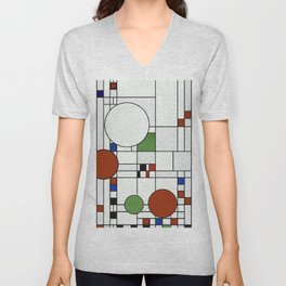Abstract Composition 425 Unisex V-Neck