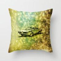 car Throw Pillows featuring car by Creative Safari