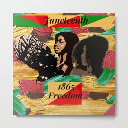 Juneteenth 1865 Freedom Collage Metal Print