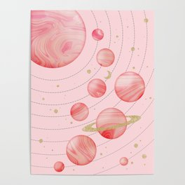 The Pink Solar System Poster