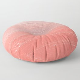 Coral Paint Gradient Floor Pillow