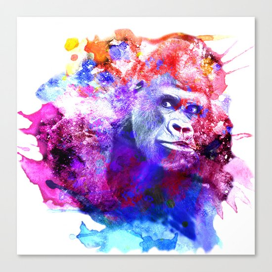 Gorillas are some of the most powerful and striking animals Canvas Print