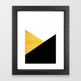 Gold & Black Geometry Framed Art Print