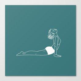 Updog teal Canvas Print