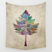 comic Wall Tapestries featuring Like a Tree 2. version by Klara Acel