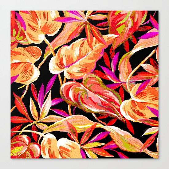 fall tropical leaves Canvas Print
