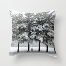 its snowing Throw Pillow