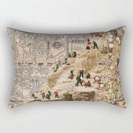 Circuitous Terrain Rectangular Pillow