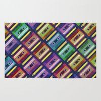 90s Area & Throw Rugs featuring 90s pattern by Gabor Nemethi