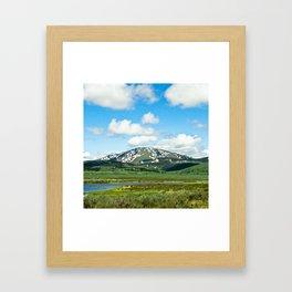 Yellowstone Mountain Framed Art Print