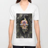 animal skull V-neck T-shirts featuring ANIMAL SKULL by sametsevincer
