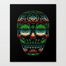 Deco Sugar Skull 4 Canvas Print