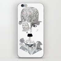 chaplin iPhone & iPod Skins featuring C. Chaplin by Ina Spasova puzzle