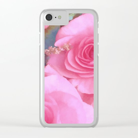 Endless Beauty Clear iPhone Case