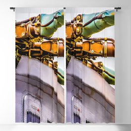 Rotor Blades Of A Modern Transport Helicopter. Aviation Art Blackout Curtain