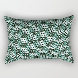 Abstract twisted cubes Rectangular Pillow