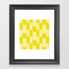 Yellow  Boho Arrows Framed Art Print