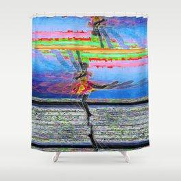 Glitch, Ballerina Shower Curtain