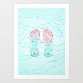 Animal d'estiu Art Print