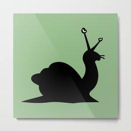 Angry Animals - Snail Metal Print