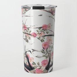 Deer and Flowers Travel Mug