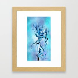 Bluish Cream Framed Art Print